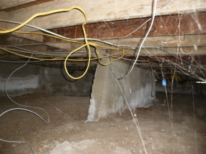 Foundation needs repairs, unsafe electrical wiring